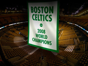 The Big Three's one banner looking a little lonely.