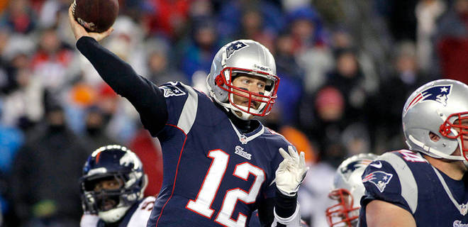 Tom Brady threw 3 TDs as the Patriots stunned the Broncos 34-31 in OT Sunday night.