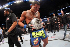 "Anthony ""Showtime"" Pettis was crowned the new UFC lightweight champion Saturday night."