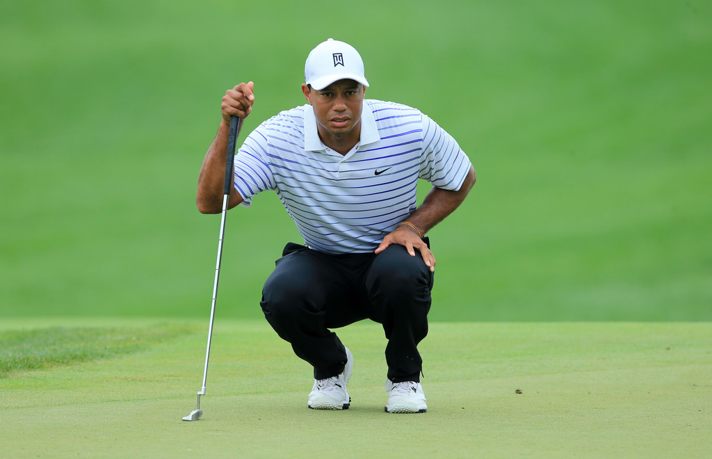 Whenever he missed a putt, Tiger would typically vent his frustrations by moving his bowels directly into the hole.