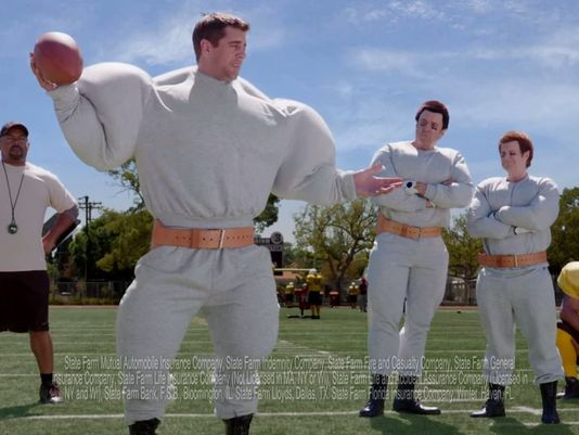 Those aren't muscles, Aaron Rogers is just pumped full of jizz.