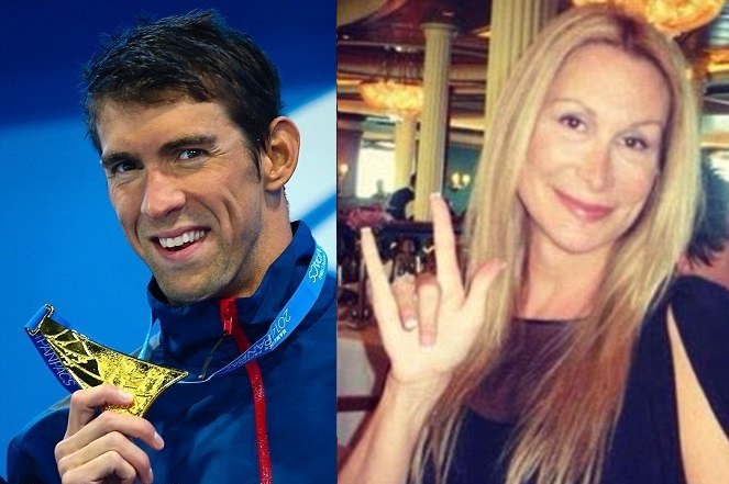 The crappy couple. Supposedly, Phelps has had his hands on more trannies than a mechanic.
