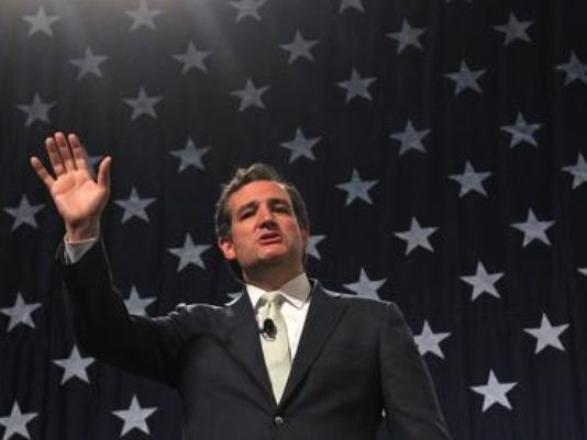 Cruz unveiled this controversial campaign poster