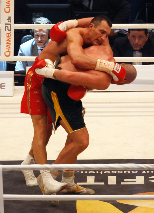 Frustrated by his impotent offense, Klitschko finally resorted to his patented butt-fuck technique. Unfortunately, this horrifying display  might have been the manliest moment of the fight.