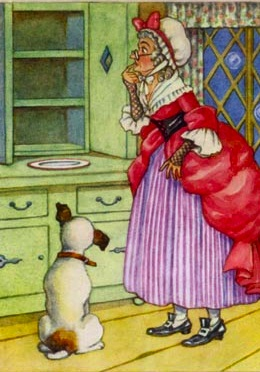 Here's Trump with trusted advisor Old Mother Hubbard confirming his picks.