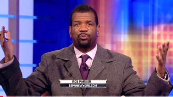 Rob Parker, the new spokesman for sour grape soda.