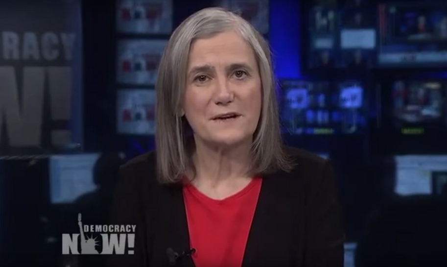 "Hosting ""Democracy Now"" has been Goodman's dream job ever since she was a grey-haired little girl."